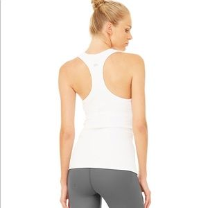 Alo Ribbed Racerback Workout Tank Top